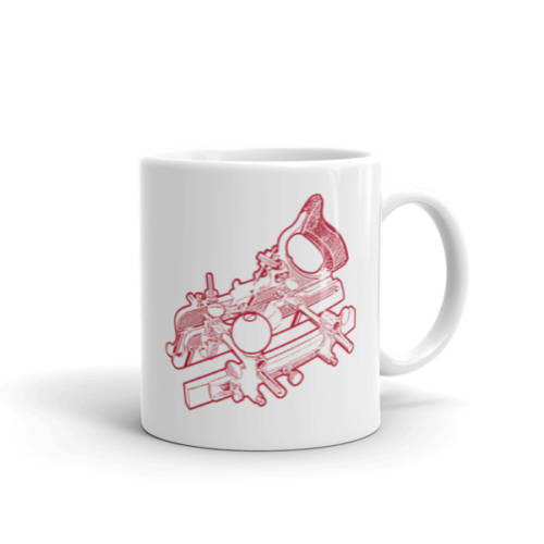 Stanley 45 Combination Plane Mug (Red)