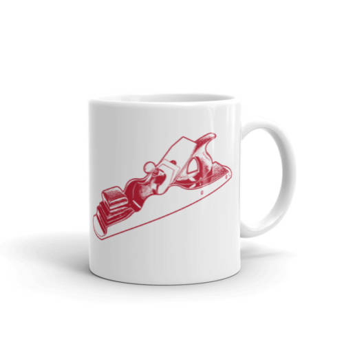 Scottish Infill Panel Plane Mug (Red)