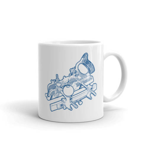 Stanley 45 Combination Plane Mug (Blue)