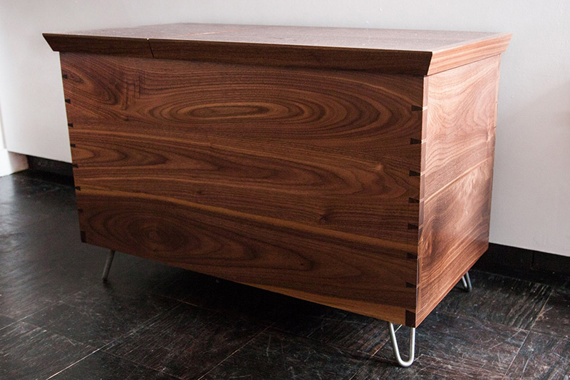 Contemporary Walnut Split Top Toy Chest by James Huggett