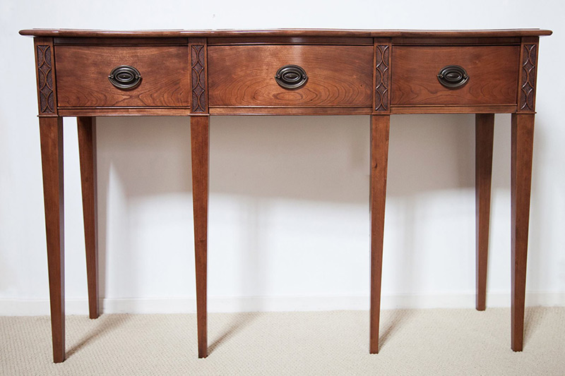 Foyer Table Cherry : Federal cherry serpentine entryway table by james huggett