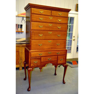 massachusetts high chest of drawers james huggett