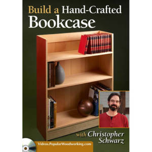 DVD cover for Build a hand-crafted bookcase with Christopher Schwarz