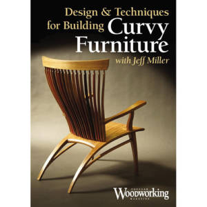 DVD cover for Design and Techniques for Building Curvy Furniture with Jeff Miller modern chair