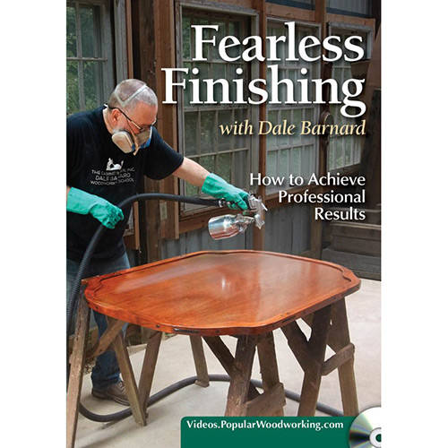 DVD cover for Fearless Wood Finishing how to achieve professional results with Dale Barnard