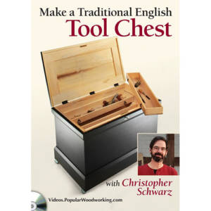 DVD cover for Make a traditional english tool chest with christopher schwarz