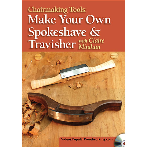 DVD cover for Make your own spokeshave and travisher with claire minihan