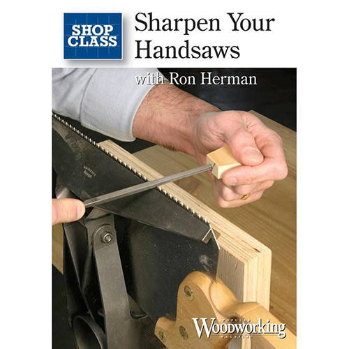 DVD cover for Sharpen your hand saws with ron harman
