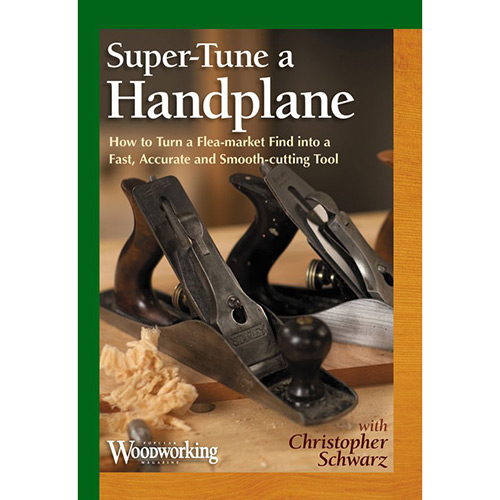 Super tune a handplane DVD cover two handplaners sitting on a woodworking workbench