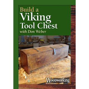 DVD cover for Build a Viking Tool Chest with Don Weber on a woodworking workbench