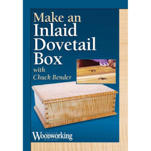 DVD cover for Make an Inlaid Dovetail Box figured maple box