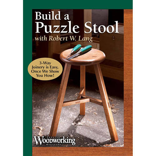 DVD cover for building a puzzle stool with robert lang
