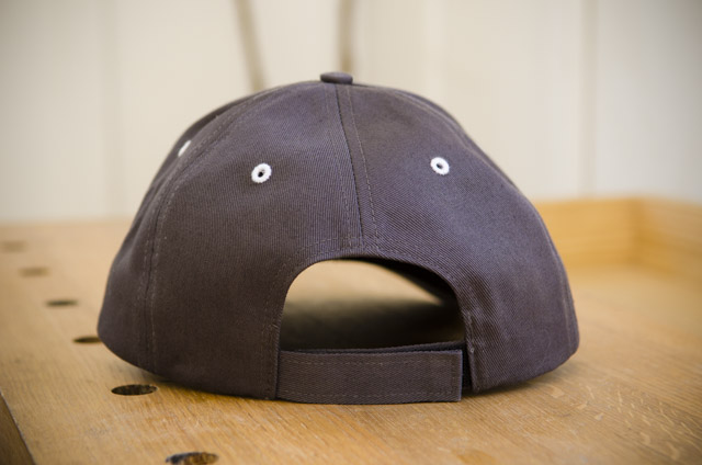 Woodworking baseball hat cap with wood and shop handplane logo rear