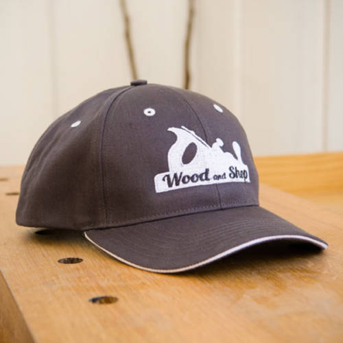 Woodworking baseball hat cap with wood and shop handplane logo