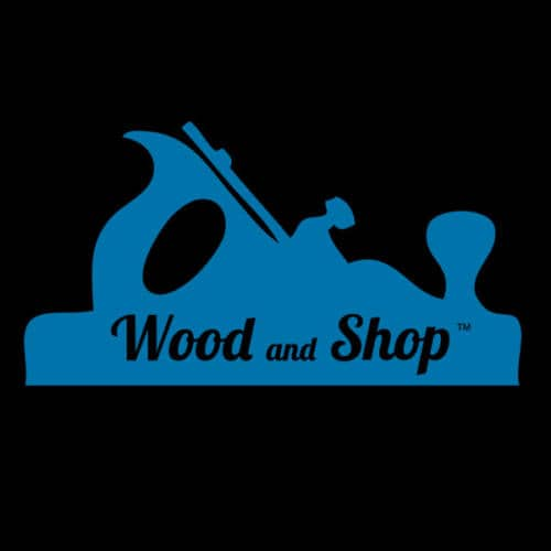 Woodworking T-shirt wood and shop logo