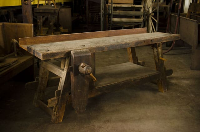The original antique Portable Moravian Workbench